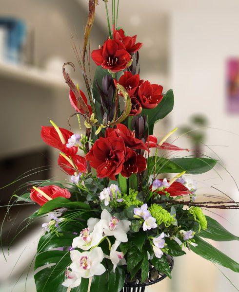Centro de diseño especial con flores diferentes