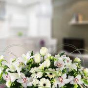 Centro horizontal con flor especial