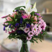 Silvestre en tonos rosaceos y blanco