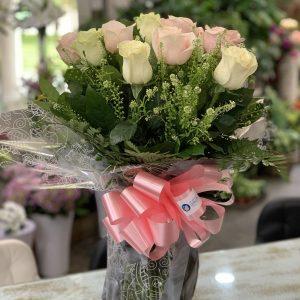12 Rosas tonos pastel