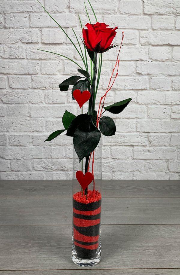 Rosa preservada en jarrón