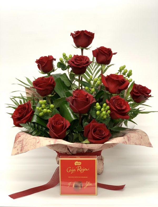 Ramo 12 Rosas y Bombones