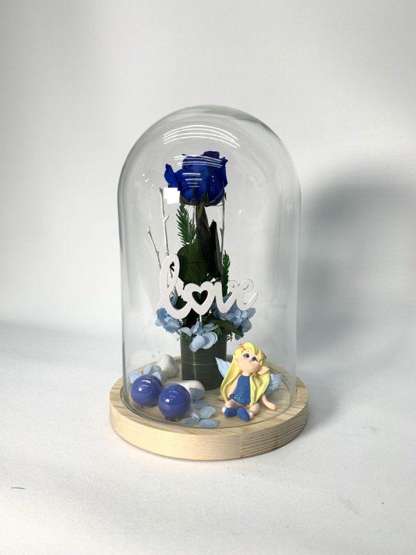 Cúpula Mediana con Rosa Azul
